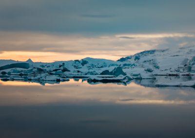 At the Jökulsárlón Glacier Lagoon
