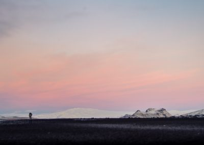 Sunrise at Reynisfjara, my back turned towards the beach