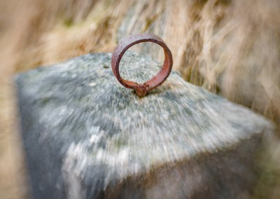 Abandoned rusty iron ring