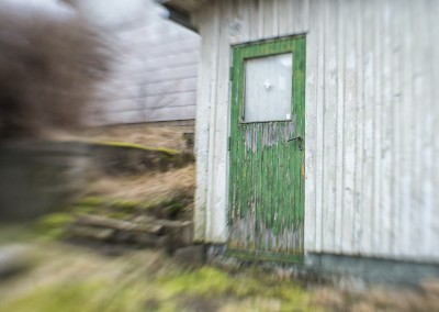 Door of abandoned house