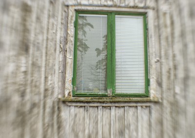 Window of abandoned house