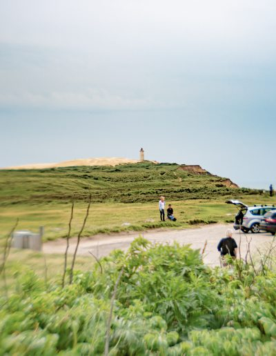 My photog friends, in the background the Rubjerg Knude lighthouse. Lensbaby beta lens, Denmark 2019